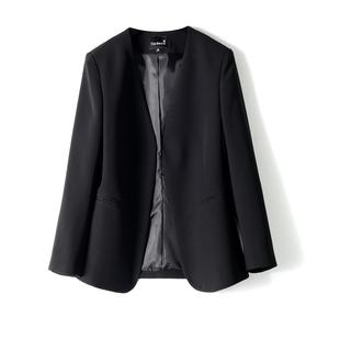 ARTIN徠倩2020早春新品女簡約無領八分袖修身西裝外套上衣 JK2793