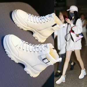 马丁靴女鞋2021年新款爆款靴子鞋子秋款春秋季短靴冬鞋秋冬季加绒
