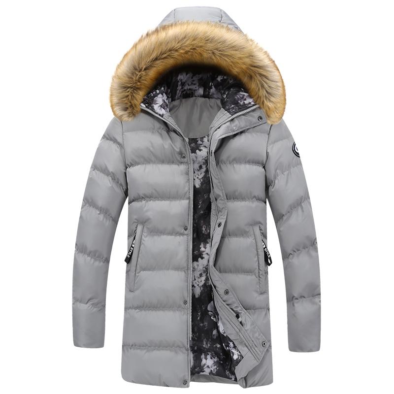 新款韩版冬季男士棉衣中长款青年大码连帽棉服外套加厚棉袄大衣潮