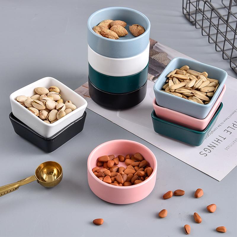 北欧创意陶瓷舒芙蕾烤碗甜品点心碗零食碟子布丁碗家用小碗蒸蛋盅
