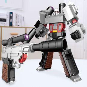 变形金刚玩具大黄蜂正版柱天擎合金版威震天机器人手枪形儿童玩具