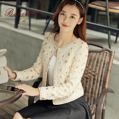 P95/短外套春装新款韩版女装名媛小香风时尚百搭长袖短款小外套潮