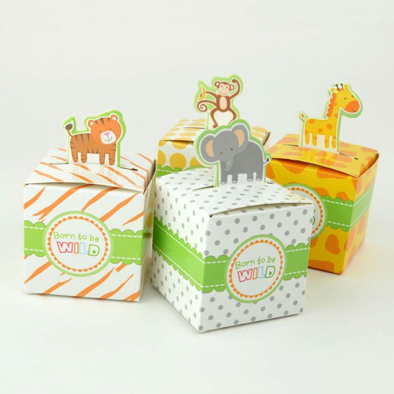 動物用の紙箱キリンのトラとサルのプレゼント箱誕生日の満月のお菓子箱10箱