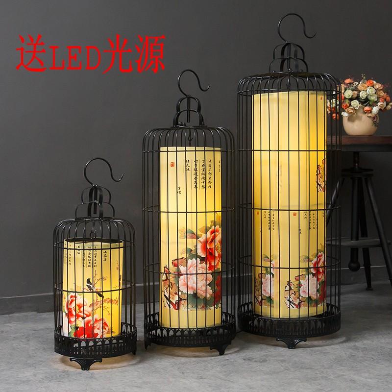 新中式古典铁艺鸟笼灯吊灯酒店复古客厅餐厅吊灯工程创意造型灯饰