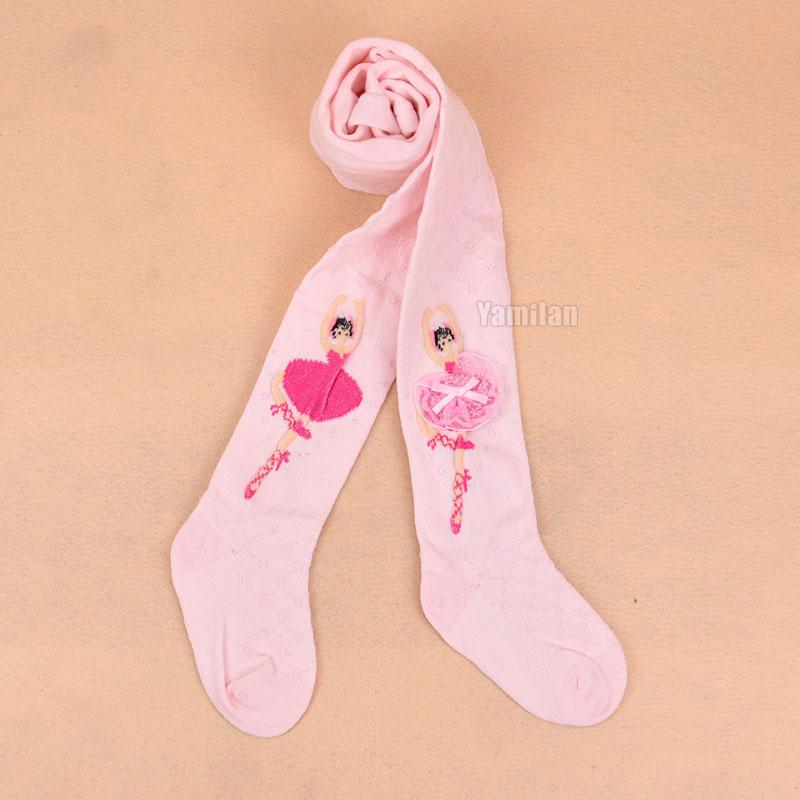 女童連褲襪 全棉 春夏款兒童打底褲公主網格芭蕾舞蹈褲寶寶連褲襪