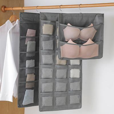 Underwear storage, hanging bag, artifact, double-sided clothes cupboard, behind the door, bra, socks, panties, storage bag, hanging fabric bag
