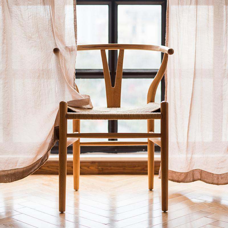 【Обезжиренное содержит в себе 】YChair стул плитка сетка принимать дания дизайн мастер мебель белый копчёный/декабрь дерево обрабатывать стул Y тип стул