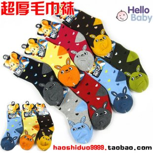 Infants and children winter models thick cotton terry baby socks cartoon socks socks thick new towels Tongwa