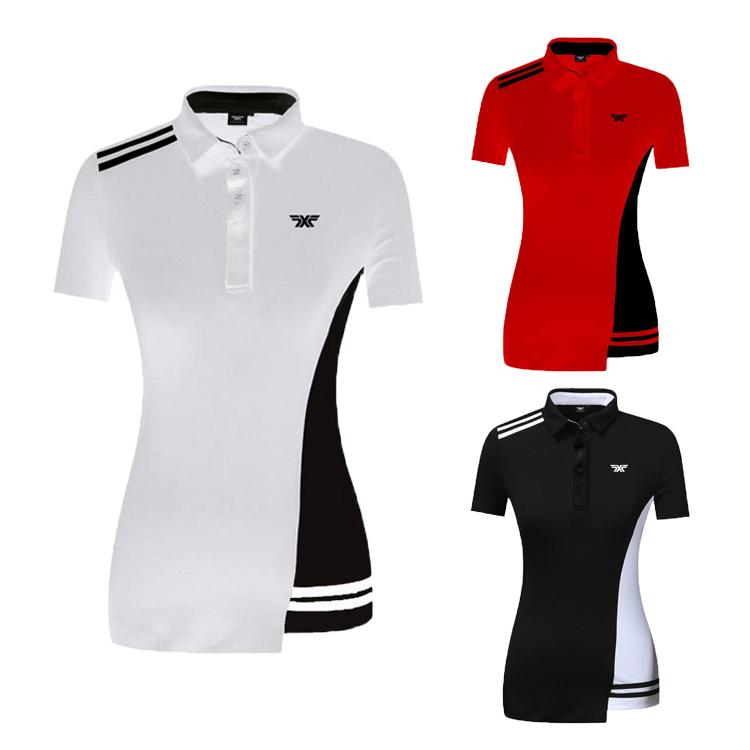 19新款高尔夫服装女士短袖t恤 夏季弹力速干运动球衣休闲golf女装