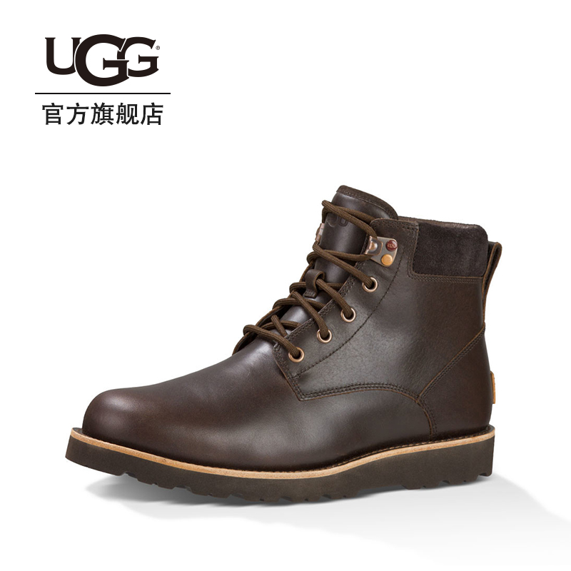 Ugg winter men's boots light fashion trend Martin boots double laces short boots 1008146
