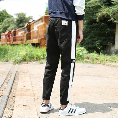 2018春款 铁路 A110-K919-P45 98棉2氨纶 大码束脚 运动休闲长裤