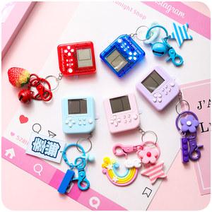 掌上俄罗斯方块游戏机怀旧迷你创意钥匙扣女ins个性书包挂件礼物