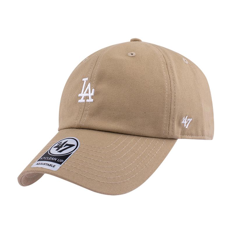 47brand卡其色ny棒球帽女小标la软顶鸭舌帽可调节男女韩版嘻哈帽