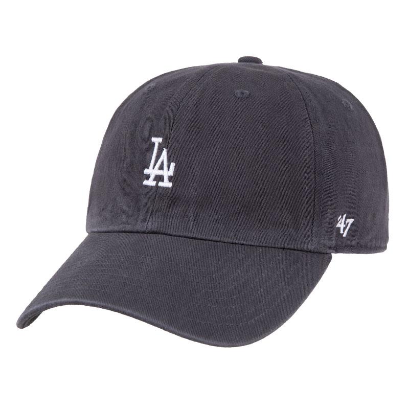 47软顶灰色mlb棒球帽小标LA弯檐鸭舌帽刺绣可调节韩版嘻哈ins帽子
