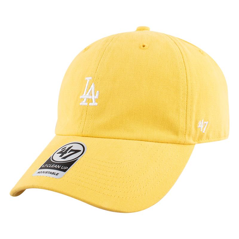 47黄色帽子专柜mlb洋基队男女同款la鸭舌帽小标可调节ny棒球帽夏