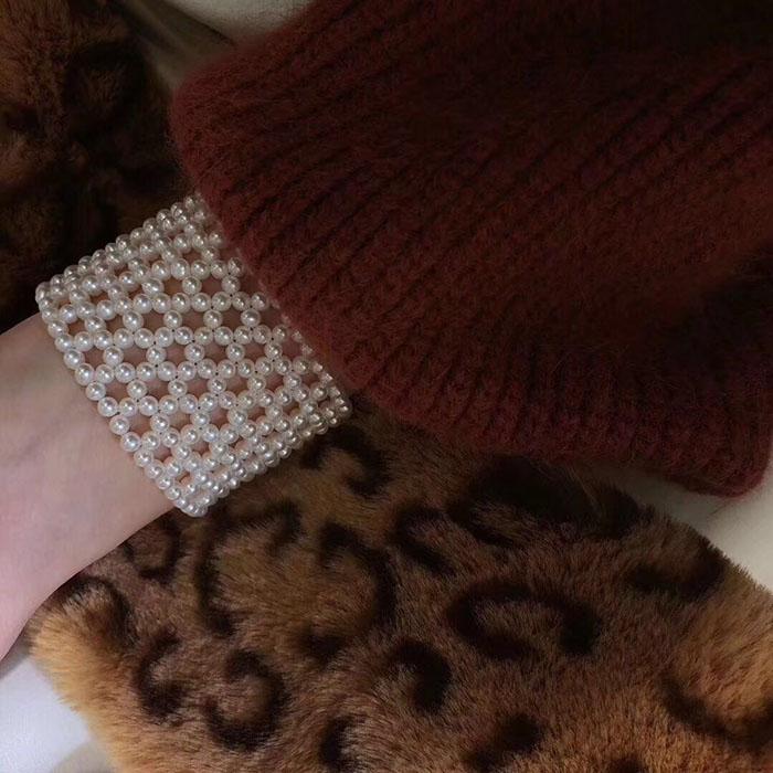 天然淡水珍珠小珍珠手工编织手链