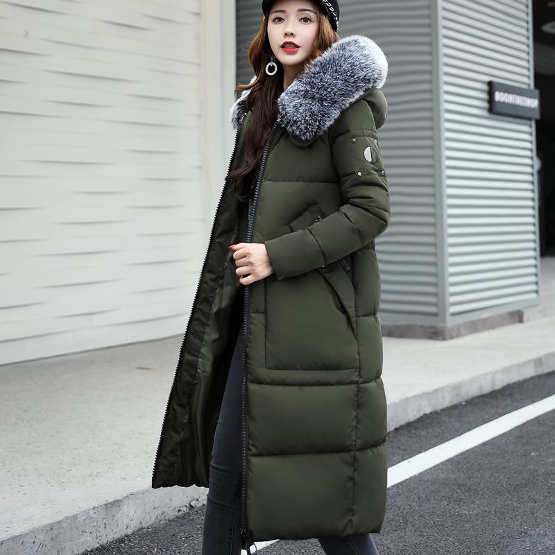 大量现货 支持大型活动  实拍2017冬装新羽绒棉服女韩版中长款