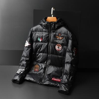 80绒 冬季羽绒衣 男款羽绒服短款 J5010-1 P230 已质检 平铺图片