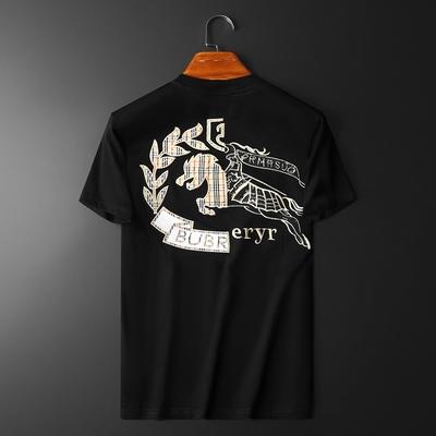 2021新款 夏季男士丝光棉T恤短袖 货号:8816 P75 控118 平铺图