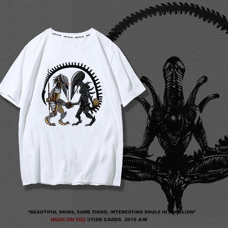 异形契约Alien普罗米修斯2T恤17新款时尚短袖男女情侣款T恤上衣