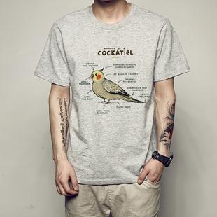 暴躁不爽貓咪創意趣味英文手繪狗的解析沙皮狗臘腸犬短袖T恤動物