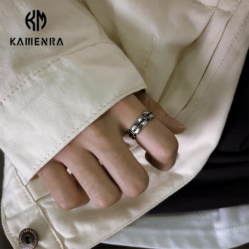热销213件限时2件3折ins欧美复古嘻哈戒指男个性创意刀片指环女食指尾戒钛钢潮流饰品