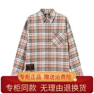 森马2021年冬季新款正品102721105011女装格子衬衫10-2721105011