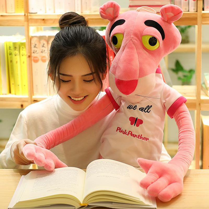 正版达浪粉红豹公仔少女粉红顽皮豹子大号毛绒玩具跳跳虎生日礼物