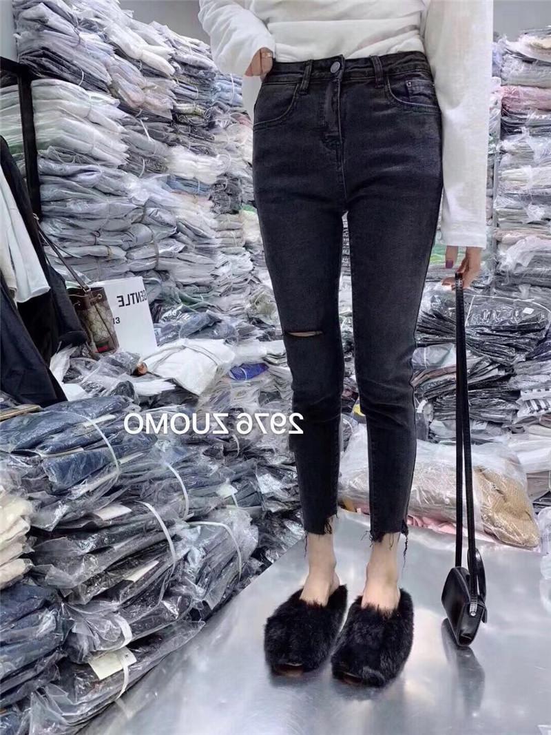 欧洲站2019秋季新款韩版修身牛仔裤10月17日最新优惠