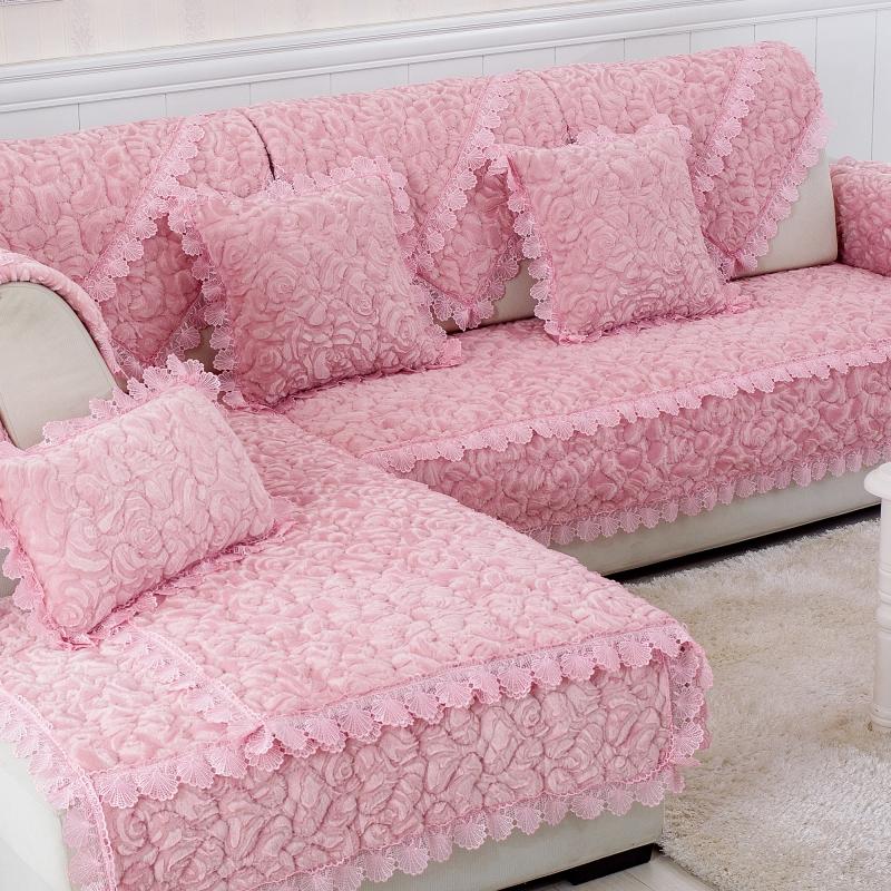 券后12.75元冬季沙发垫简约现代沙发套法兰绒欧式布艺防滑坐垫毛绒加厚沙发巾