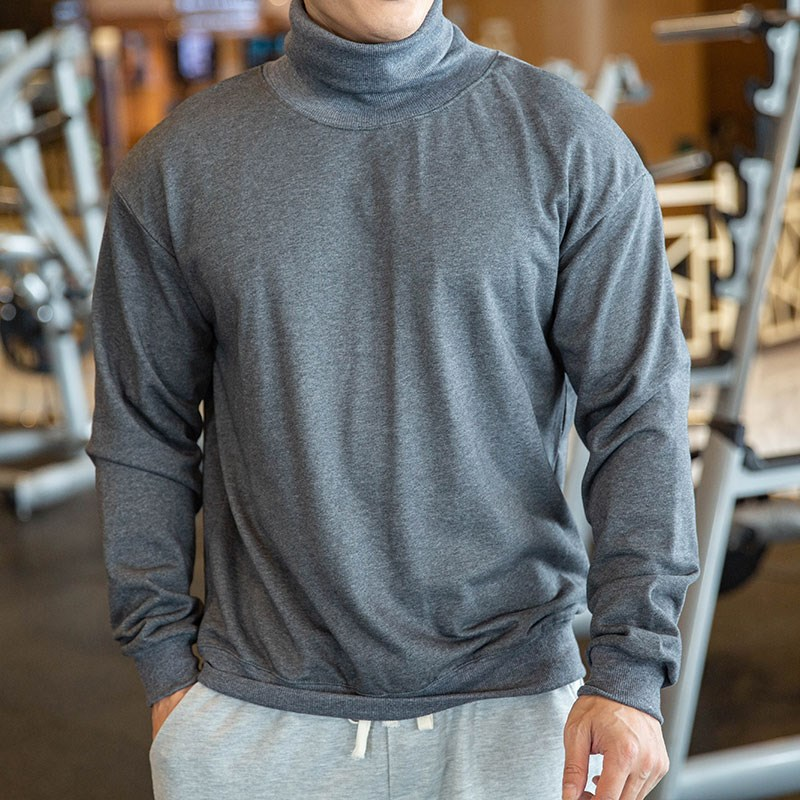 Support sweater mens 2020 autumn new high collar loose long sleeve sports and leisure Pullover fitness suit~