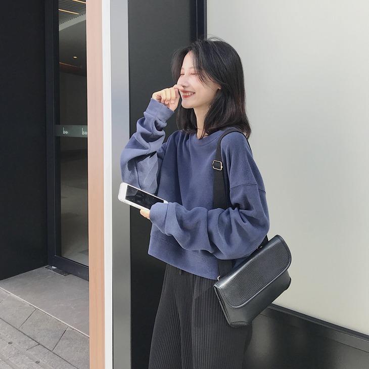 卫衣短款女 韩版 宽松