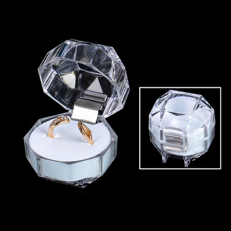 ジュエリーピアス指輪ケース単品指輪収納ボックス高級透明リングギフトボックスアクセサリーケース