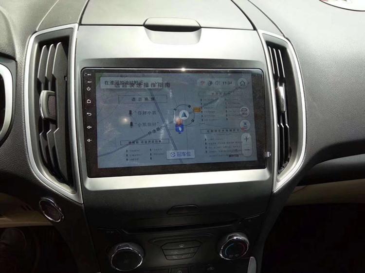 4 G全網通9寸はフォードエッジ大スクリーンAndroid自動車専用車載知能ナビ一体機に適用されます。