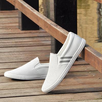 新品男士夏季镂空韩版潮鞋小白鞋