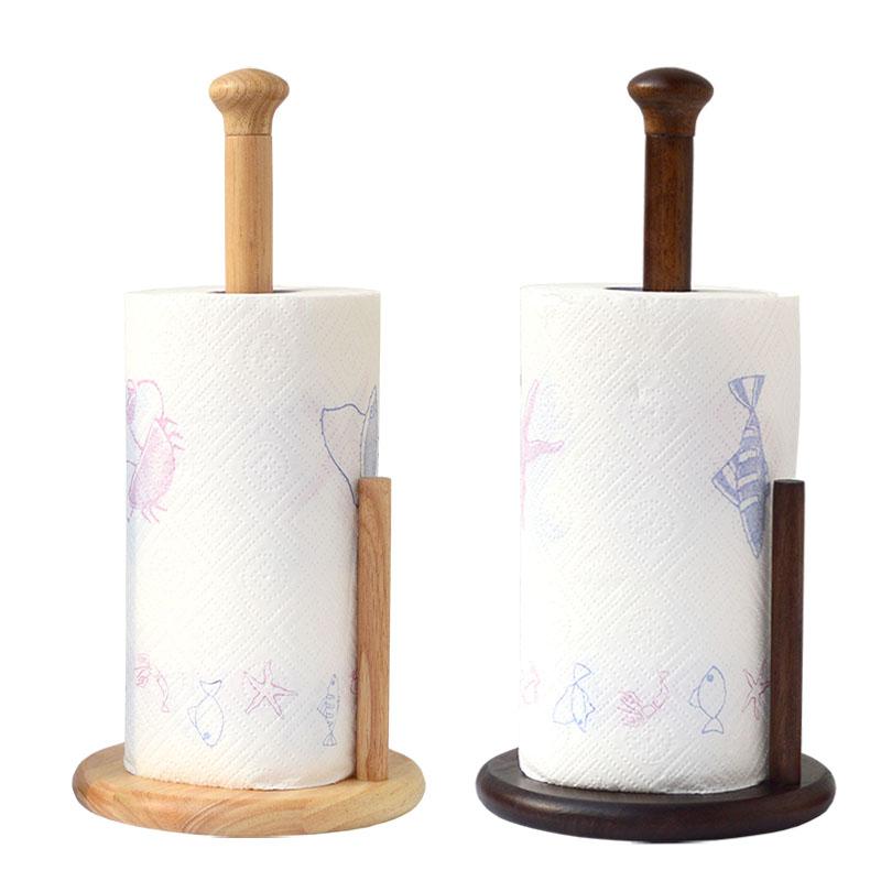 Кухня бумажные полотенца полка дерево бумага вешалка для полотенец катушка стойка перфорация ткань континентальный домой рулон полка сиденье