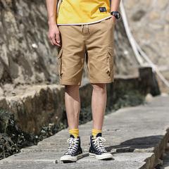 电商A016-1-D50 P45 夏季男士五分裤学生运动裤短裤子热裤工装裤