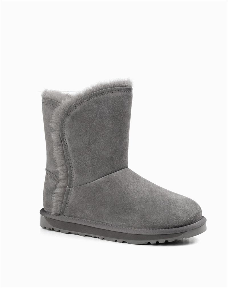 清仓特价澳洲OZWEAR女款艾莉娜中筒剪裁羊毛雪地靴ozw164