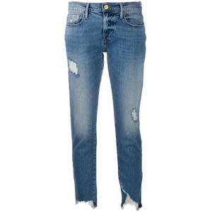 代购 Frame Denim 女2020冬季新品 ç八分牛仔裤 博主同款 chic