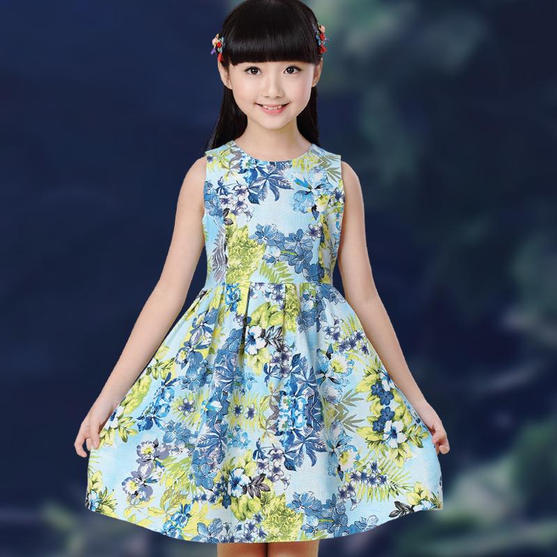 女孩連衣裙 女童 大 兒童小學生小孩棉質女裝裙子夏裝