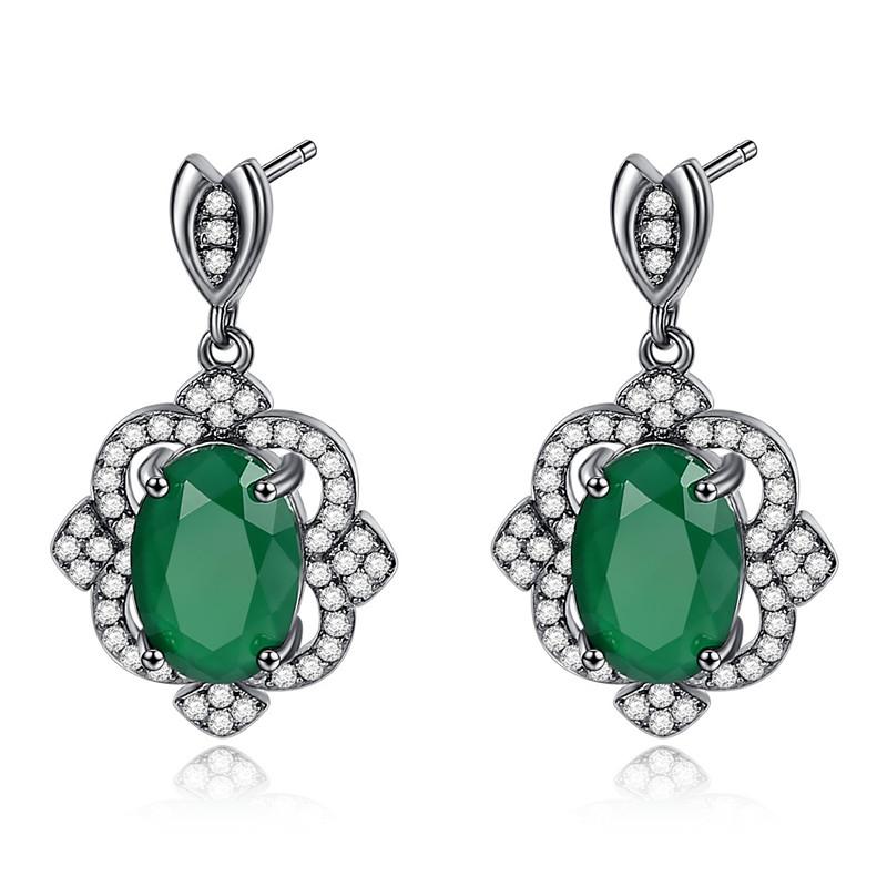 Green Earrings female Earrings mothers middle aged earrings pearl cheongsam accessories grandmother ear accessories