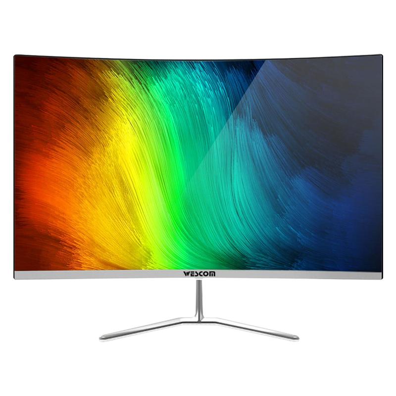 长城集团wescom C2463WSR 23.8英寸无边框电竞曲面显示器HDMI高清