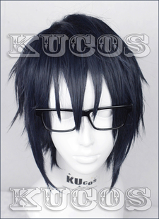 KUCOS exclusive K Fushimi ape than 4 years old dark black blue cos wig styling models