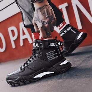 秋季2019新款高帮运动鞋子