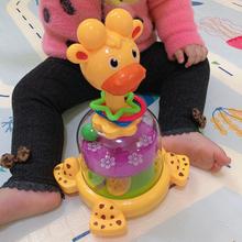 婴幼儿按压旋转跳跳球色彩认知能力培养0-2岁宝宝早教转转乐玩具1