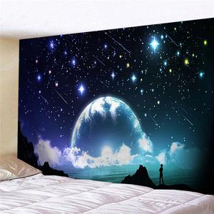 超大挂毯彩色星空风景墙壁装饰帘