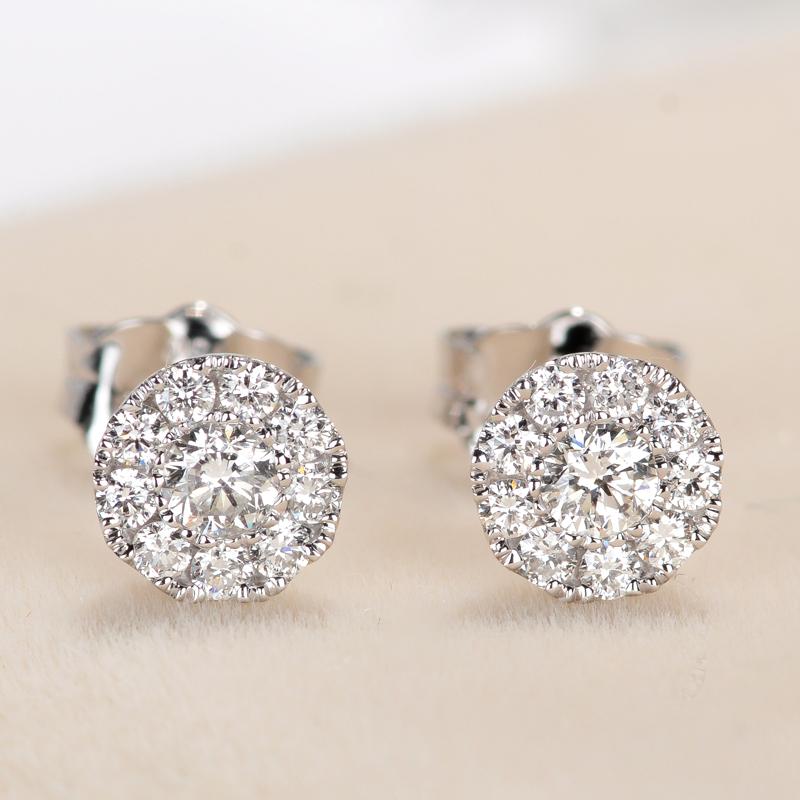 Драгоценный камень мое работа 18k платина алмаз серьги 34 филиал группа инкрустация из розового золота золото алмаз серьги заметный большой
