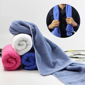 毛巾运动洗澡冲凉1.1米健身房纯棉加长32×110柔软吸汗绣字LOGO