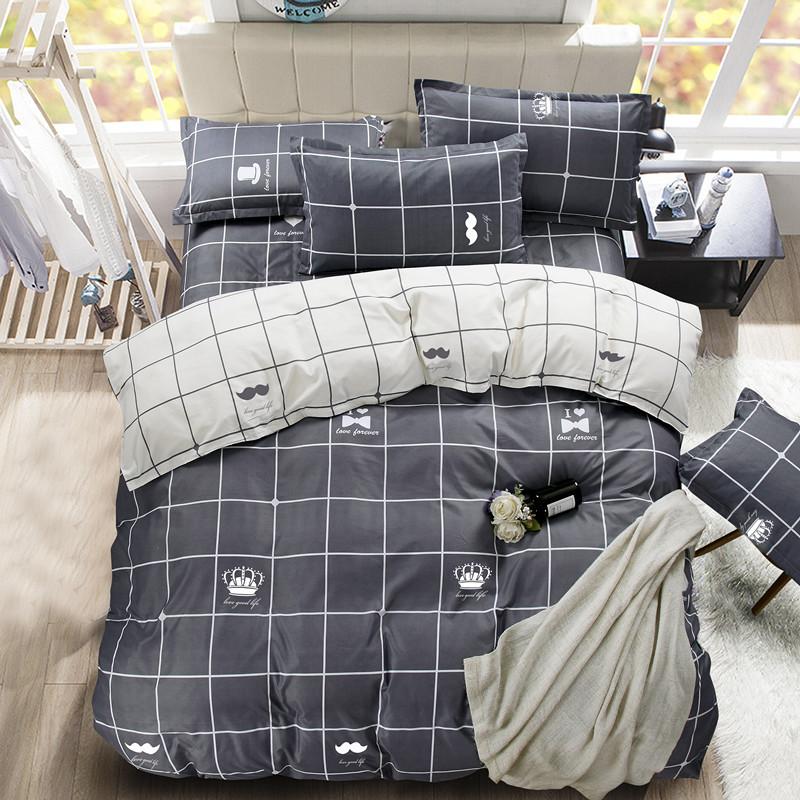 诺诗琪网红款床上用品四件套夏季ins被套单人宿舍被单床单三件套4