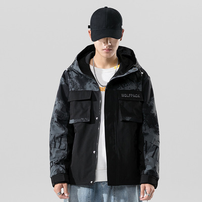 Men's autumn fashion Hooded jacket coat 秋季潮流男装夹克外套